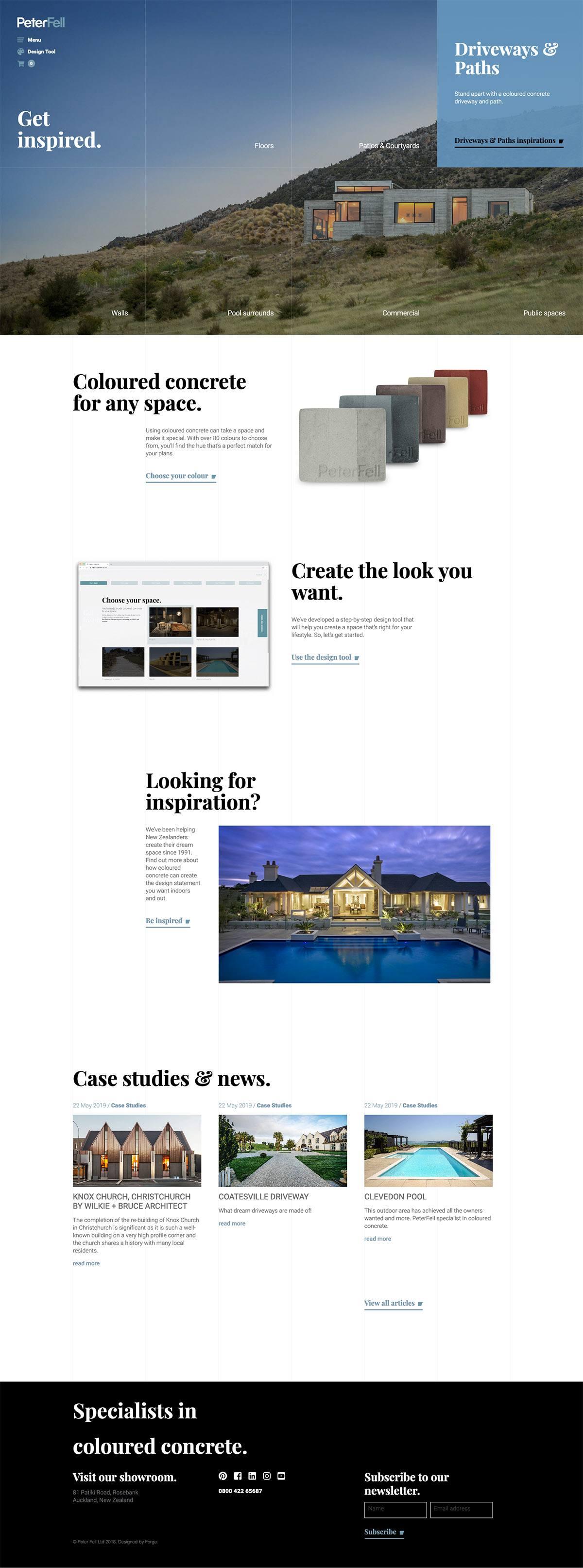 eCommerce website: Peter Fell Ltd