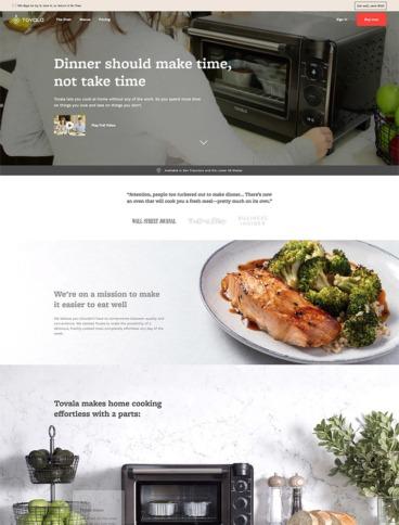 eCommerce website: Tovala
