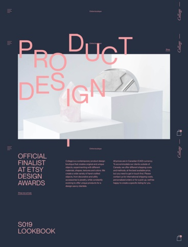 eCommerce website: Collage