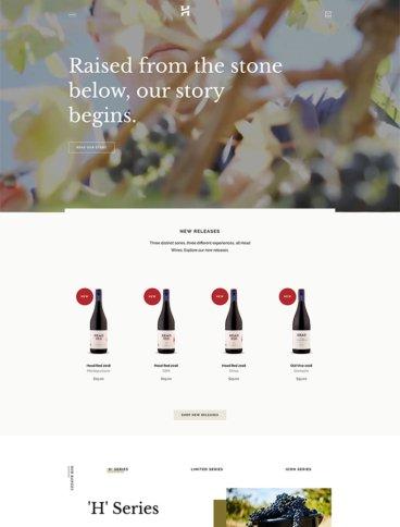 eCommerce website: Head Wines