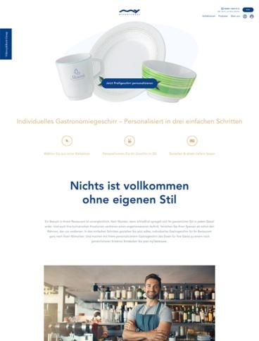 eCommerce website: myTableware