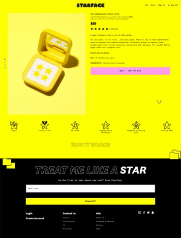 eCommerce website: starface