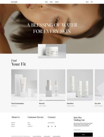 eCommerce website: Uruoi Skincare