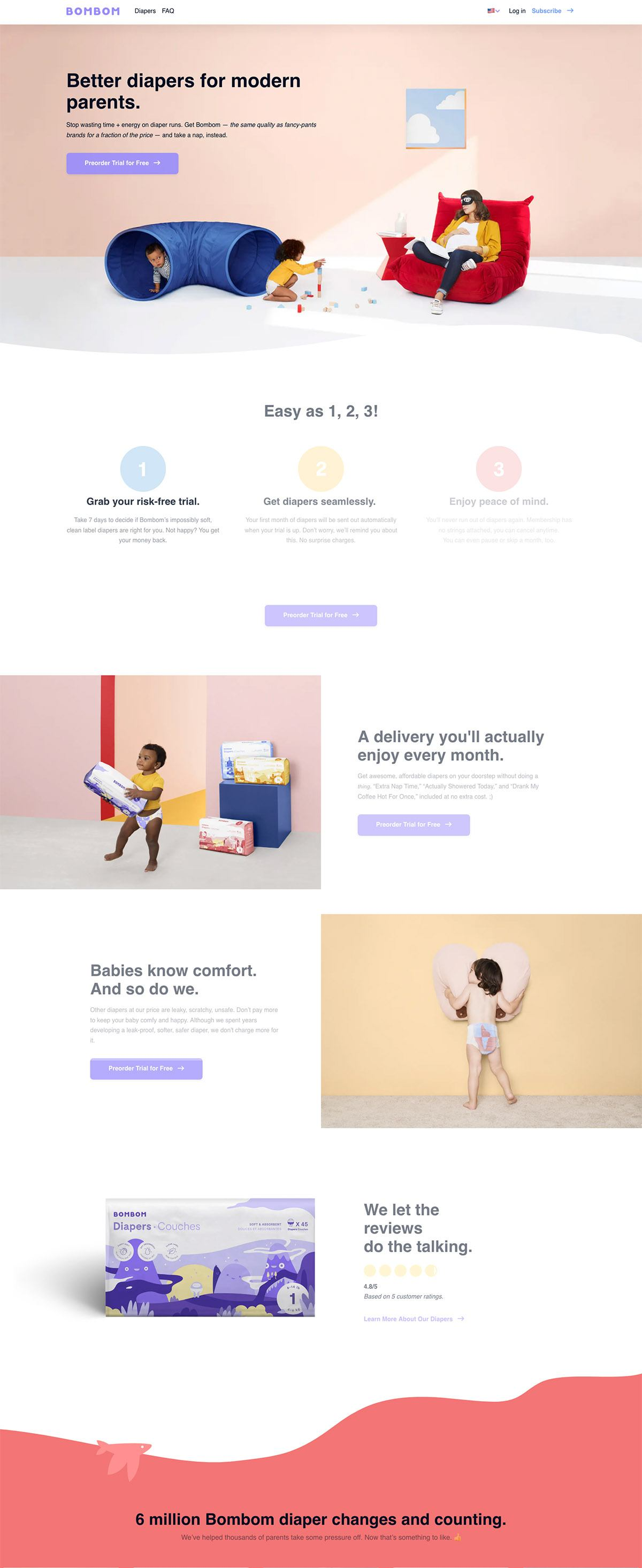 eCommerce website: Bombom