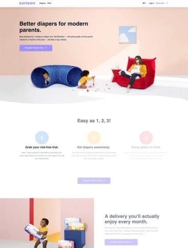 eCommerce website: Bombom