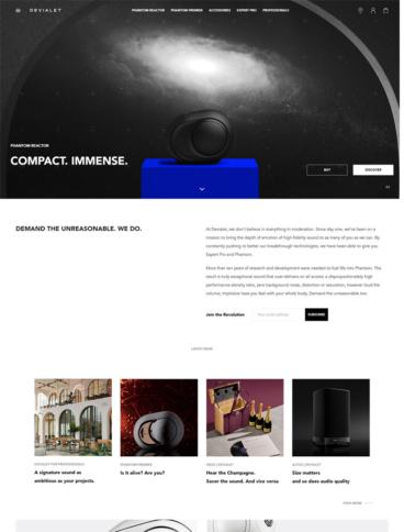 eCommerce website: Devialet
