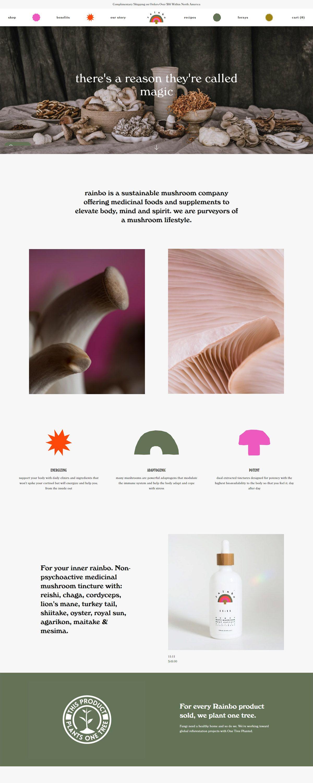 eCommerce website: Rainbo