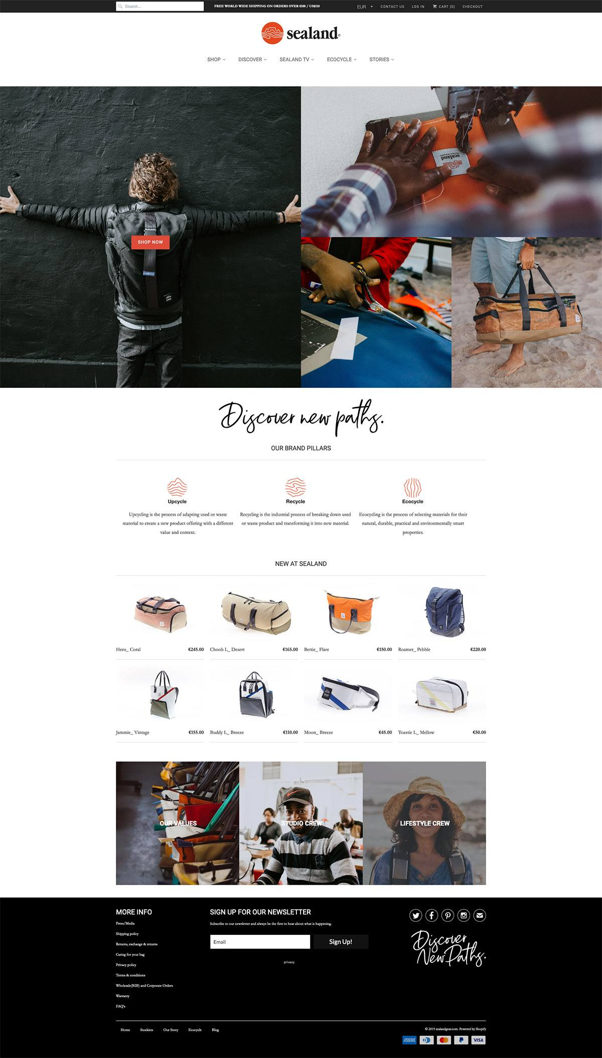 eCommerce website: Sealand Gear
