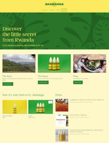 eCommerce website: Akabanga