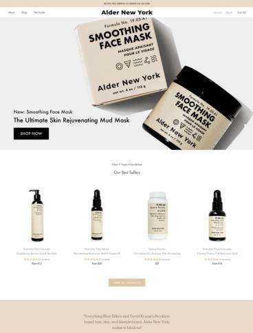 eCommerce website: Alder New York