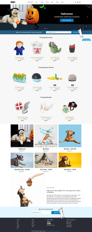 eCommerce website: BarkShop