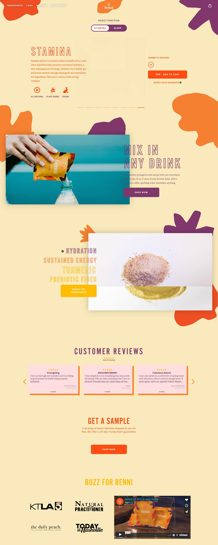 eCommerce website: benni