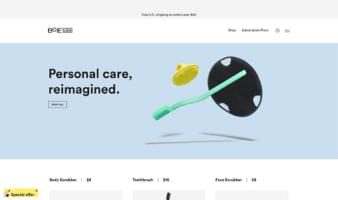 eCommerce website: Boie USA