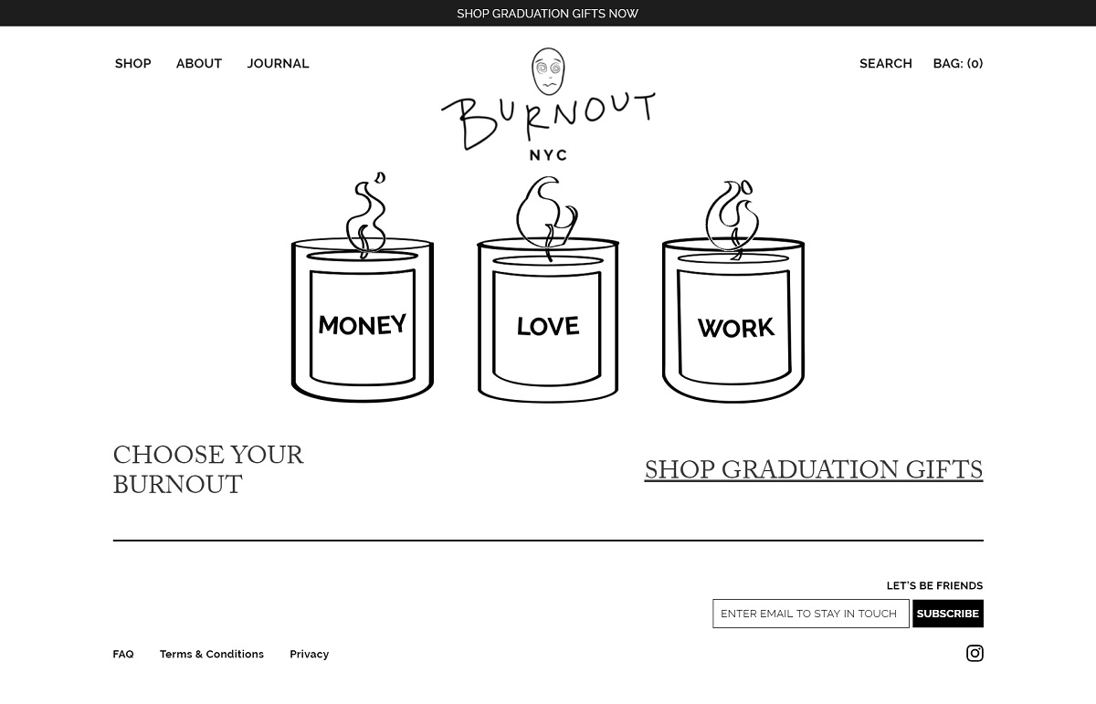 eCommerce website: Burnout