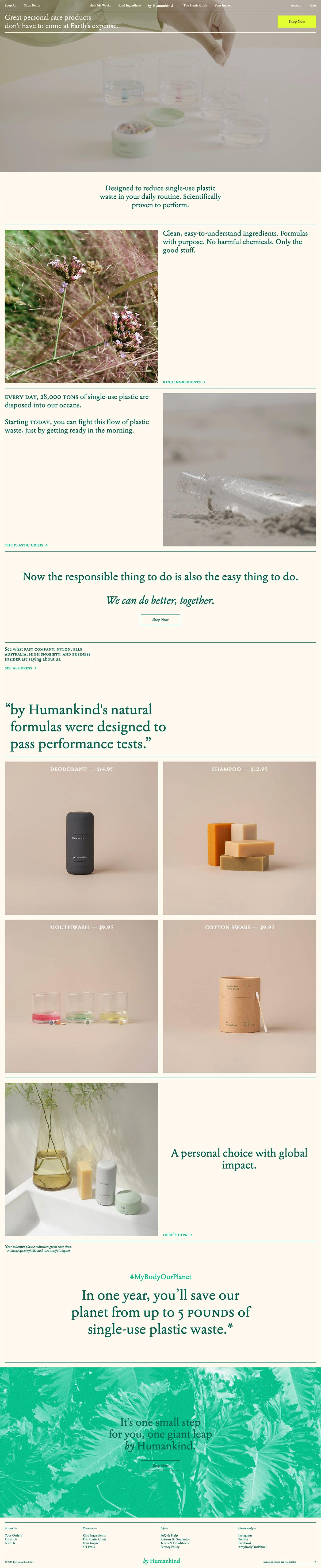 eCommerce website: by Humankind