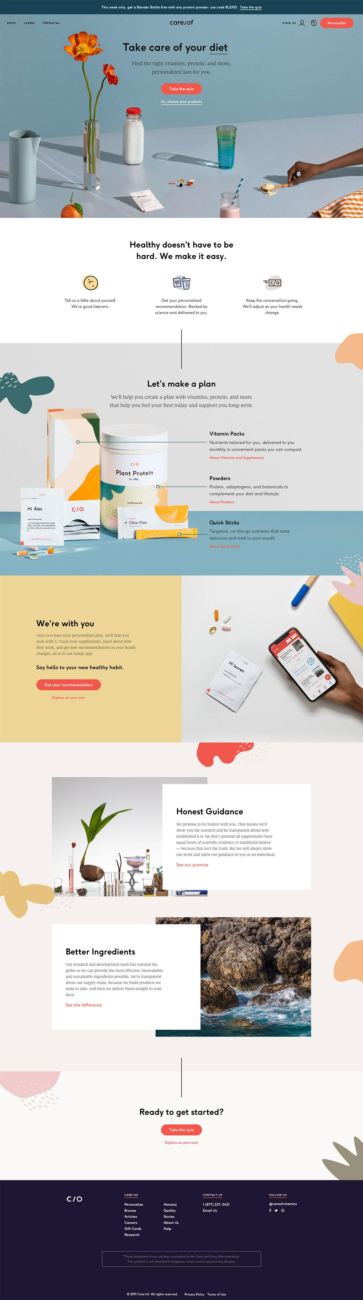 eCommerce website: Care/of