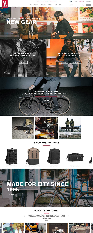 eCommerce website: Chrome Industries