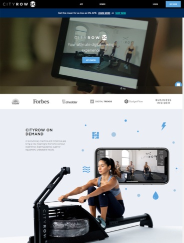 eCommerce website: CITYROW