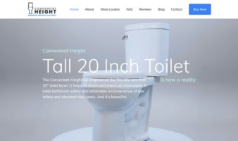 eCommerce website: Convenient Height