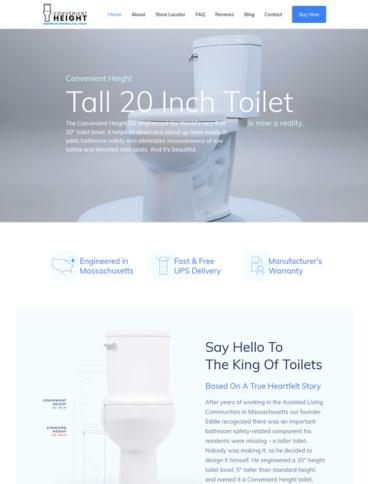 eCommerce website: Convenient Height