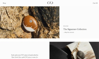 eCommerce website: CVC Stones