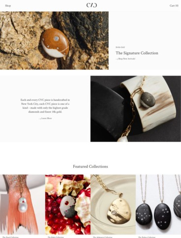 eCommerce website: CVC Stones