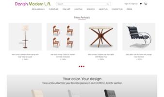 eCommerce website: Danish Modern L.A.