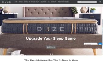 eCommerce website: Doze