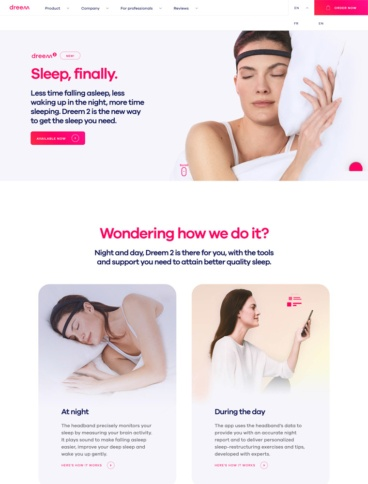 eCommerce website: Dream 2