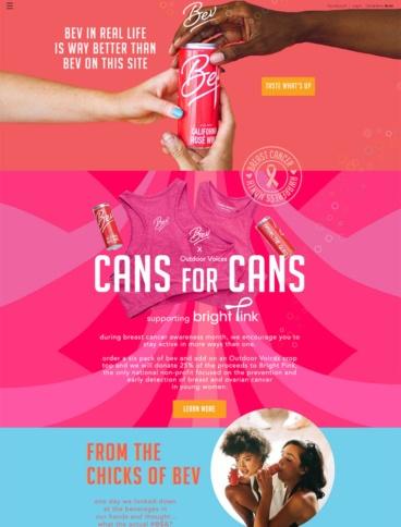 eCommerce website: Drink Bev