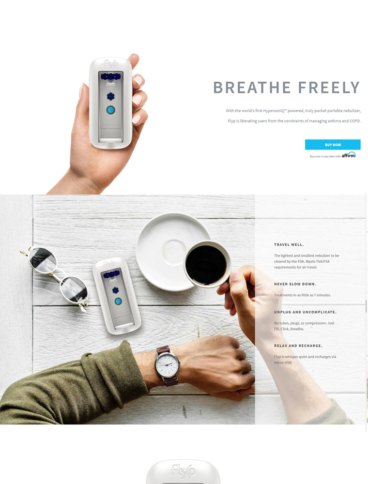 eCommerce website: Flyp Nebulizer