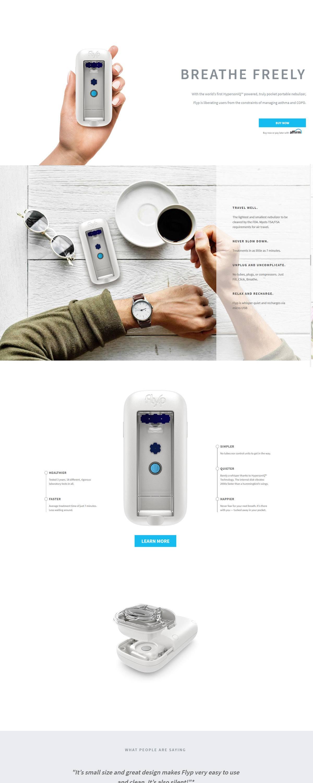 eCommerce website: Flyp Nebulizer