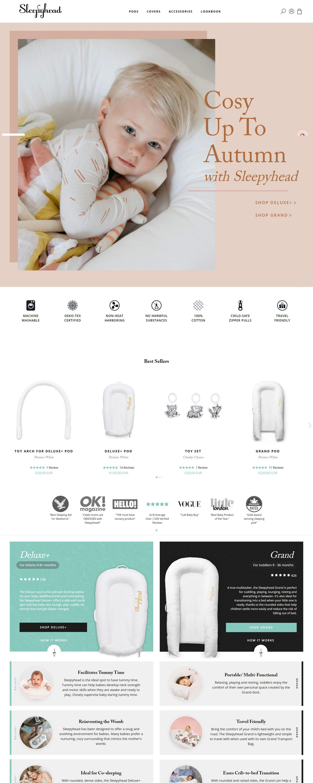 eCommerce website: Sleepyhead