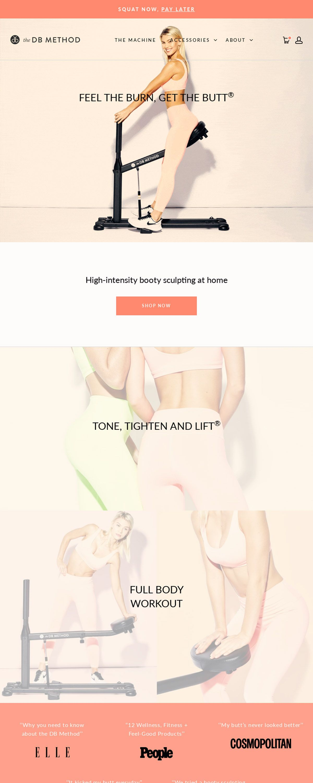 eCommerce website: The DB Method
