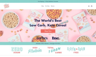 eCommerce website: The Cereal School