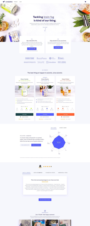 eCommerce website: Cheers