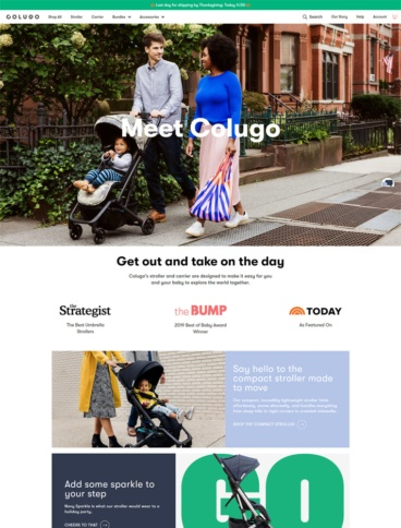 eCommerce website: Colugo