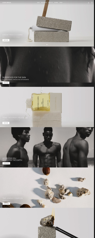 eCommerce website: Costa Brazil