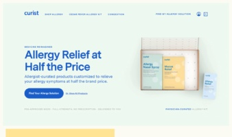 eCommerce website: Curist