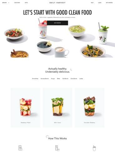 eCommerce website: Daily Harvest
