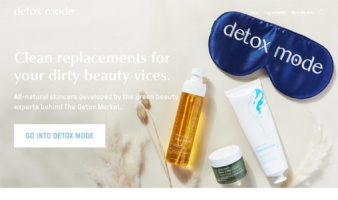 eCommerce website: Detox Mode