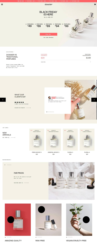 eCommerce website: Dossier