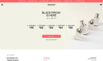 eCommerce website: Dossier