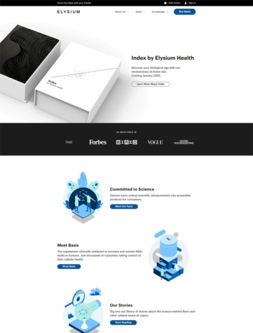 eCommerce website: Elysium