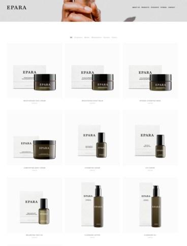 eCommerce website: Epara