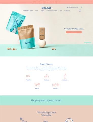 eCommerce website: Ernest
