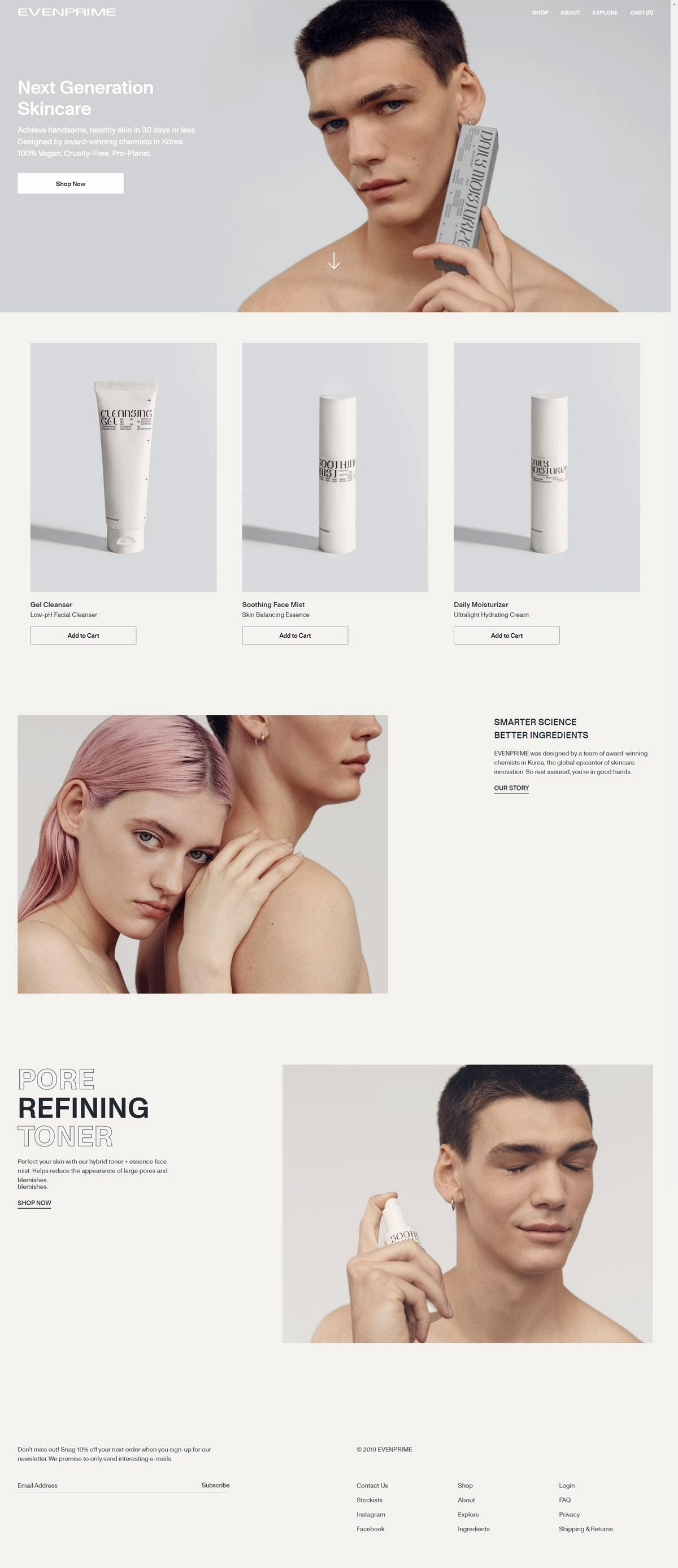 eCommerce website: EVENPRIME