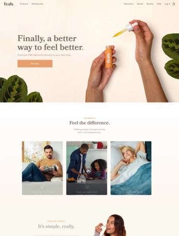 eCommerce website: Feals