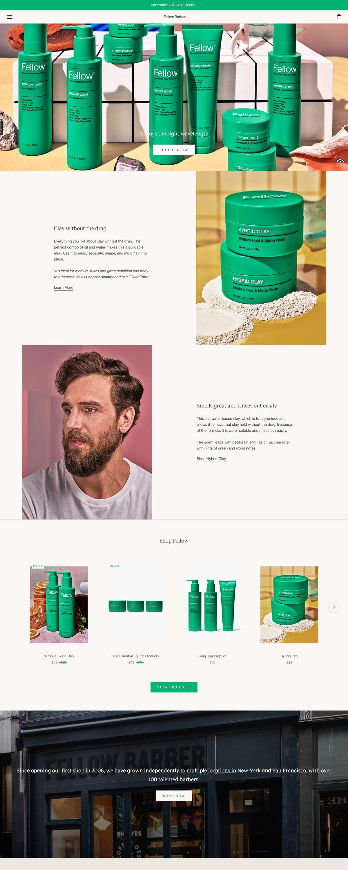 eCommerce website: Fellow Barber