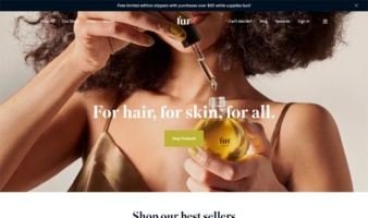 eCommerce website: Fur